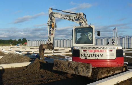Loonbedrijf Veldman - Takeuchi Kas uitgraven