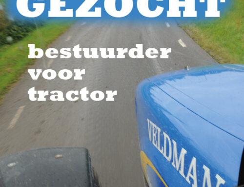 Tractorchauffeur gezocht